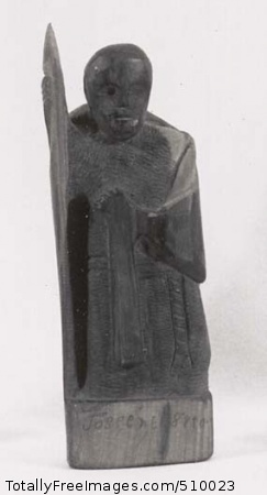 Soldier, (sculpture). Artist: Barela, Patrocinio, 1908-1964, sculptor. Medium: Carved cedar. Smithsonian Control Number: IAS 75000297