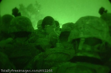 Sappers Rule the Sappers pray before going on another night mission. Photo Credit: Aug 1, 2007