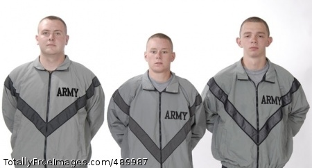 Soldiers to Prototype jackets for the Improved Physical Fitness Uniform look very similar to the current jackets in daylight, but the reflective fabric gives them an entirely different appearance in lowlight conditions, as seen from the other photograph. Photo Credit: Nov 6, 2007