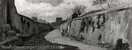 Outside Porta St., St. Lorenzo, Rome Artist: Vedder, Elihu, 1836-1923, painter. Medium: Oil. Smithsonian Control Number: IAP 07130170