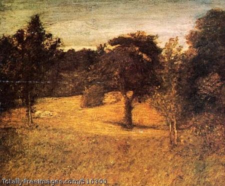 Weir's Orchard Artist: Ryder, Albert Pinkham, 1847-1917, painter. Medium: Oil on canvas. Smithsonian Control Number: IAP 06910416