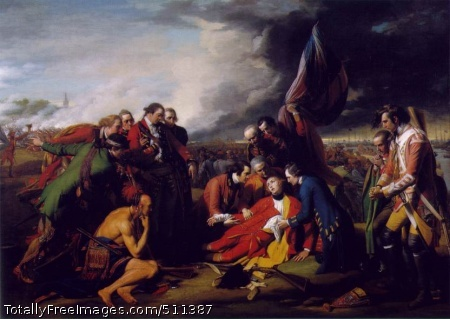 The Death of General Wolfe 1770; Oil on canvas, 152.6 x 214.5 cm; National Gallery of Canada, Ottawa