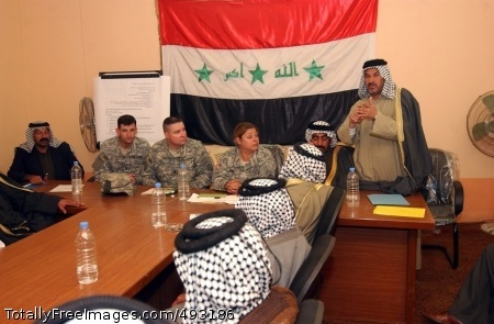Movers & 'Sheikers' A sheik addresses council members at the North Babil Tribal Council in March, held at Forward Operation Base Kalsu, Iraq. This council was formed as part of an effort to quell sectarian violence between rival tribes. Photo Credit: Jun 4, 2007