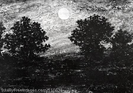 Moonlight Artist: Blakelock, Ralph Albert, 1847-1919, painter. Medium: Oil on panel. Smithsonian Control Number: IAP 01080018