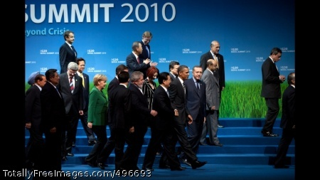 President Obama G-20 Family Photo President Barack Obama walks with other World leaders following the G-20 family photo at the COEX Center in Seoul, South Korea, Nov. 12, 2010. (Official White House Photo by Pete Souza)