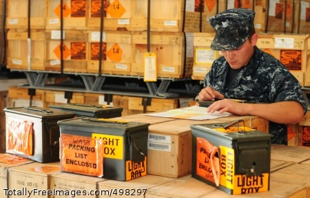 110617-N-RN782-043 SIGONELLA, Italy (June 17, 2011) Aviation Ordnanceman 3rd Class Timothy McQueary checks a munitions inventory sheet at Navy Munitions Command during Operation Unified Protector. (U.S. Navy photo by Mass Communication Specialist Seaman Apprentice Brian Glunt/Released)
