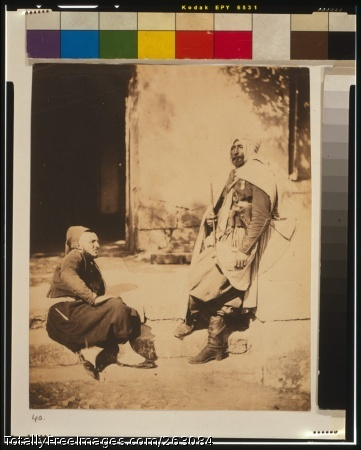 Zouave & officer of the Saphis [i.e., Spahis]