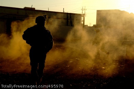 Stress A Soldier from the 1st Armored Division moves to his next objective during a morning raid in Ramadi, Iraq. Photo Credit: Nov 28, 2006