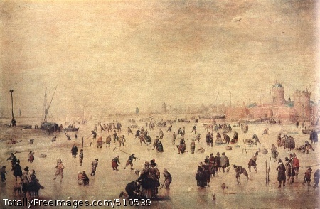 Skaters Oil on wood, 24 x 38 cm; Pushkin Museum, Moscow