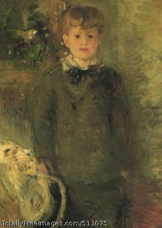 Portrait of Marcel Gobillard (Little Boy in Gray) 1880; private collection in Geneva. The model is Mme Morisot's nephew.