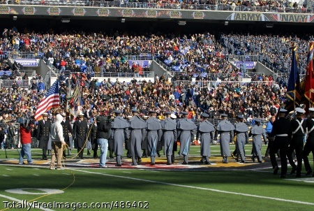 Exchange The US Military Academy and the US Naval Academy exchange the cadets and midshipmen who have been serving as ambassadors to their sister Academy for the fall semester during the 108th annual Army Navy football game in Baltimore, Md. Dec 1, 2007.   Photo Credit: Dec 1, 2007