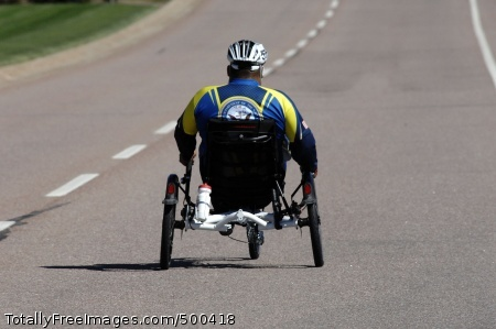 110520-N-CD297-017  COLORADO SPRINGS, Colo. (May 20, 2011) A member of Team Navy/Coast Guard cycling team participates in the second annual Warrior Games. Warrior Games is a Paralympic-style sport event among 200 seriously wounded, ill, and injured service members from the Army, Navy, Air Force, Marine Corps, and Coast Guard. (U.S. Navy photo by Mass Communication Specialist 1st Class Andre N. McIntyre/Released)