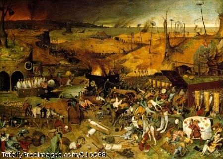 The Triumph of Death c. 1562 (220 Kb); Oil on panel, 117 x 162 cm; Museo del Prado, Madrid