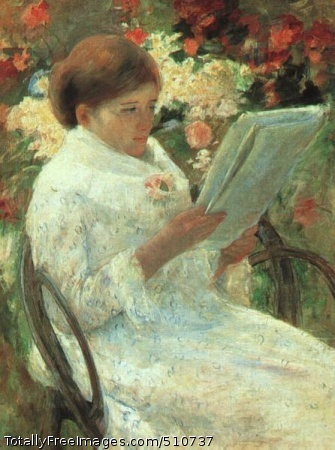 Woman Reading in a Garden 1880 (40 Kb); Art Institute of Chicago