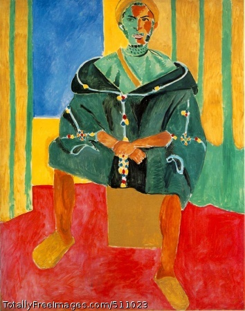 Le Rifain assis (Seated Riffian) Late 1912 or early 1913 (130 Kb); Oil on canvas, 200 x 160 cm (78 3/4 x 63 in), Barnes Foundation, Merion, PA