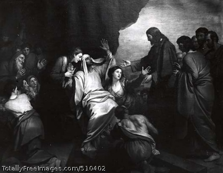 The Raising of Lazarus Artist: West, Benjamin, 1738-1820, painter. Medium: Oil on canvas. Smithsonian Control Number: IAP 06910083