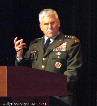 Company-grade Gen. George W. Casey, Jr., Chief of Staff of the Army, addresses the audience at the Gen. Douglas MacArthur Leadership Awards ceremony May 14, 2008. Casey praised the award recipients for their exceptional service and quality of leadership. Photo Credit: May 14, 2008