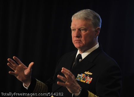 110210-N-8273J-084 NEW YORK (Feb. 10, 2011) Chief of Naval Operations (CNO) Adm. Gary Roughead delivers remarks and answers questions during the 32nd Aerospace/Defense Conference in New York. (U.S. Navy photo by Chief Mass Communication Specialist Tiffini Jones Vanderwyst/Released)