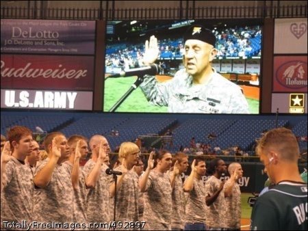 General Hashem Army Major General Steven Hashem of the U.S. Special Operations Command, located at MacDill Air Force Base, conducts a Future Soldier Swear In at the Tampa Bay Devil Rays on the Army's 232nd Birthday.  Photo Credit: Jun 14, 2007