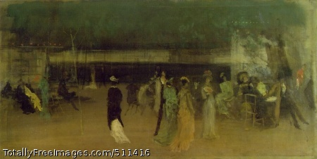 Cremorne Gardens, No. 2 1872-77; Oil on canvas, 68.5 x 134.9 cm; The Metropolitan Museum of Art, New York