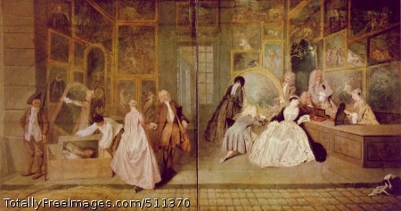 Gersaint's Shopsign Jean-Antoine Watteau Oil on canvas; 163 x 308 cm; Charlottenburg Palace, Berlin