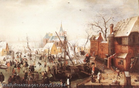Winter Scene at Yselmuiden c. 1613; Oil on panel, 47 x 73 cm; Musée d'Art et d'Histoire, Geneva