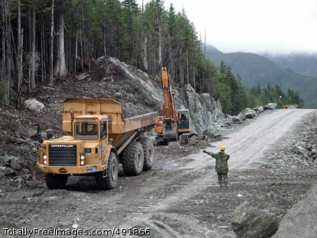 Soldiers Build Road Missouri National Guard Soldiers work on the 14.3-mile road on Annette Island, Alaska. Photo Credit: Aug 27, 2007