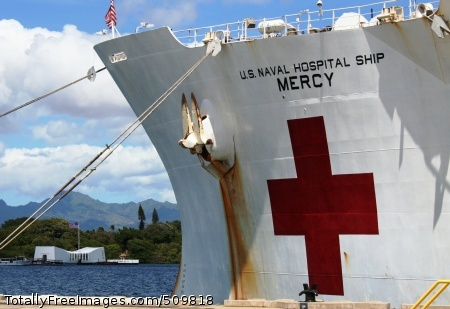 100914-N-3749M-003 PEARL HARBOR (Sept. 14, 2010) Personnel from the Naval Supply Systems Command's Fleet and Industrial Supply Center Pearl Harbor load provisions, mail, and critical repair parts aboard the Military Sealift Command hospital ship USNS Mercy (T-AH 19).  Mercy stopped in Pearl Harbor before returning to San Diego after serving in the Pacific on a humanitarian mission. (U.S. Navy Photo/Released)