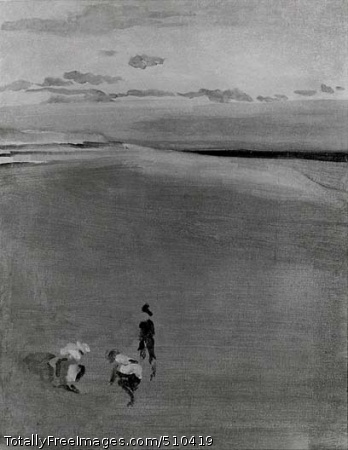 The Beach at Selsey Bill Artist: Whistler, James Abbott McNeill, 1834-1903, painter. Medium: Oil on canvas. Smithsonian Control Number: IAP 07130180