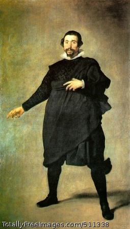 """Pablo de Valladolid c. 1635 (100 Kb); Oil on canvas, 6'10 1/2"""" x 4'1/2""""; Museo Prado, Madrid"""