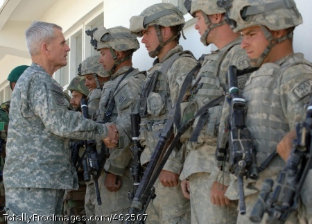 School Back in Gen. Dan McNeil congratulates U.S. and Afghan Soldiers who made it safe for the children to return to school. Photo Credit: Jul 16, 2007
