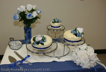 301st Military PHOENIX - Photo of Brandon and Charity Manygoats' wedding cake. Staff Sgt. Kelly Greene, who planned the wedding, made and decorated the cake. Photo Credit: Jul 22, 2008