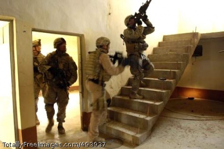 Paratroopers Search The Soldiers perform a thorough search. Photo Credit: Apr 18, 2007