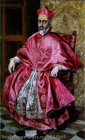Portrait of a Cardinal c. 1600 (160 Kb); Oil on canvas, 180.8 x 108 cm (67 1/4 x 42 1/2 in); The Metropolitan Museum of Art, New York