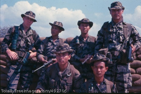 SFC Doney 5th SFG SFC Doney 5th SFG: This is a photograph of Sergeant First Class (SFC) Norman A. Doney (standing on far right) with a group of Army of the Republic of Vietnam (ARVN) soldiers who were training with the 5th Special Forces Group, 1st Special Forces, September 1968. (S. L. A. Marshall Photograph Collection). Photo Credit: Jul 22, 2007