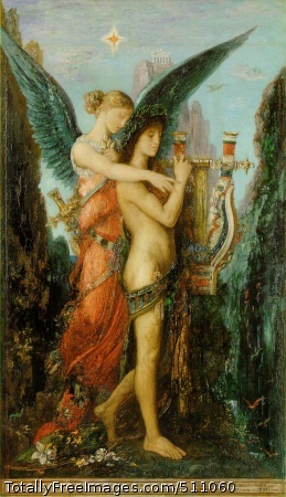 Hesiod and the Muse 1891; Oil on canvas, 59 x 34.5 cm; Musée d'Orsay, Paris