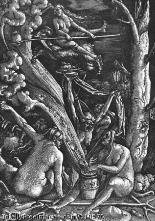Witches Sabbath 1510; Woodcut