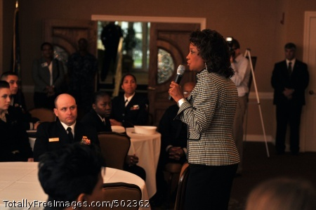 110331-N-YR391-003 MAYPORT, Fla. (March 31, 2011) Florida Lt. Gov. Jennifer Carroll delivers remarks during a Woman's History Month observation at Naval Station Mayport. (U.S. Navy photo by Mass Communication Specialist 2nd Class Gary Granger Jr./Released)