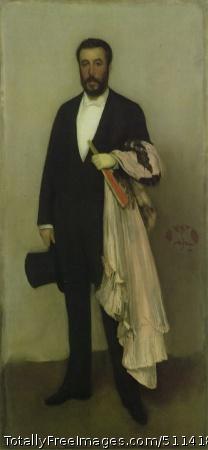 Arrangement in Flesh Colour and Black: Portrait of Theodore Duret 1883-84; Oil on canvas, 193.4 x 90.8 cm; The Metropolitan Museum of Art, New York