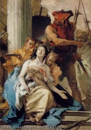 The Martyrdom of Saint Agatha c. 1755; Oil on canvas, 184 x 131 cm; Gemaeldegalerie, Staatliche Museen Preussischer Kulturbesitz, Berlin