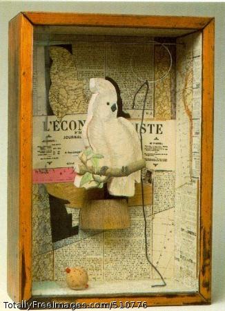 A Parrot for Juan Gris Winter 1953-54 (100 Kb); Construction, 17 3/4 x 12 3/16 x 4 5/8 in; Collection Paul Simon