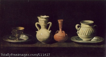 Still Life with Pottery Jars Oil on canvas; 46 x 84 cm; Museo del Prado, Madrid