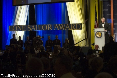 100915-N-5549O-089 WASHINGTON (Sept. 15, 2010) Secretary of the Navy (SECNAV) the Honorable Ray Mabus delivers the opening remarks at the Lone Sailor Awards dinner in Washington, D.C. (U.S. Navy photo by Mass Communication Specialist 2nd Class Kevin O'Brien/Released)