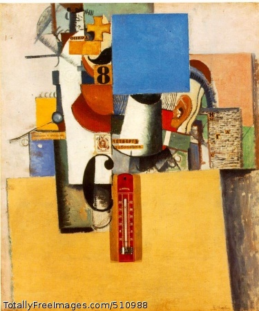 Soldier of the First Division 1914; Oil and collage on canvas, 53.6 x 44.8 cm (21 1/8 x 17 5/8 in); The Museum of Modern Art, New York