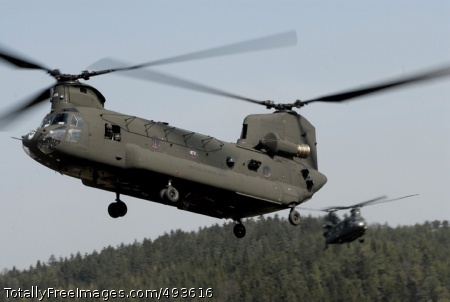Preparing for CH-47 Chinook helicopters from the 12th Combat Aviation Battalion drop into a landing zone to pick up the paratroopers. Photo Credit: May 9, 2007