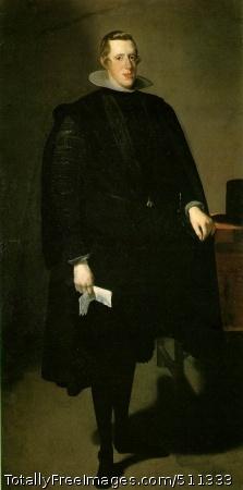 Philip IV c. 1624-27 (90 Kb); Oil on canvas, 210 x 102 cm (82 3/4 x 40 1/8 in); Museo del Prado, Madrid