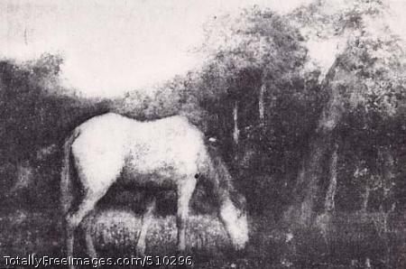The Grazing Horse Artist: Ryder, Albert Pinkham, 1847-1917, painter. Medium: Oil on canvas. Smithsonian Control Number: IAP 35680325