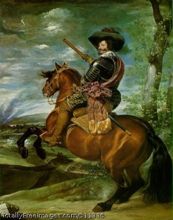 The Count-Duke of Olivares on Horseback 1634 (140 Kb); Oil on canvas, 313 x 239 cm (123 3/8 x 97 1/8 in); Museo del Prado, Madrid