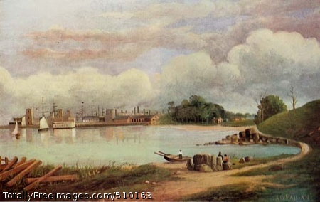 South Brooklyn, Gowanus Bay Artist: Fabian, A. G., painter. Medium: Oil on canvas. Smithsonian Control Number: IAP 36070029