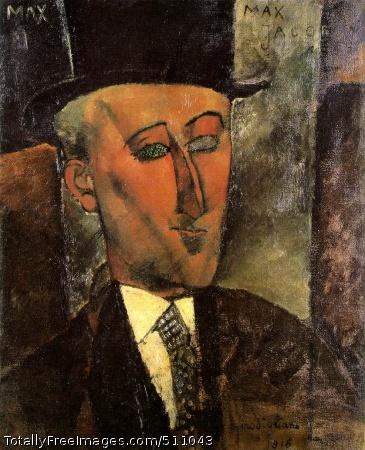 Portrait of Max Jacob 1916 (240 Kb); Oil on canvas, 73 x 60 cm; Kunstsammlung Nordrhein-Westfalen, Dusseldorf